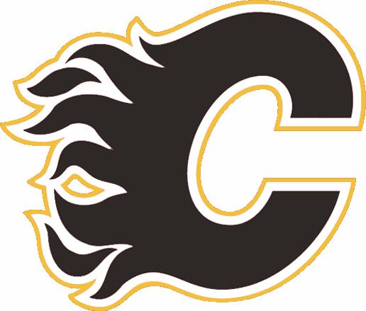 Calgary Flames Jersey Black Logo